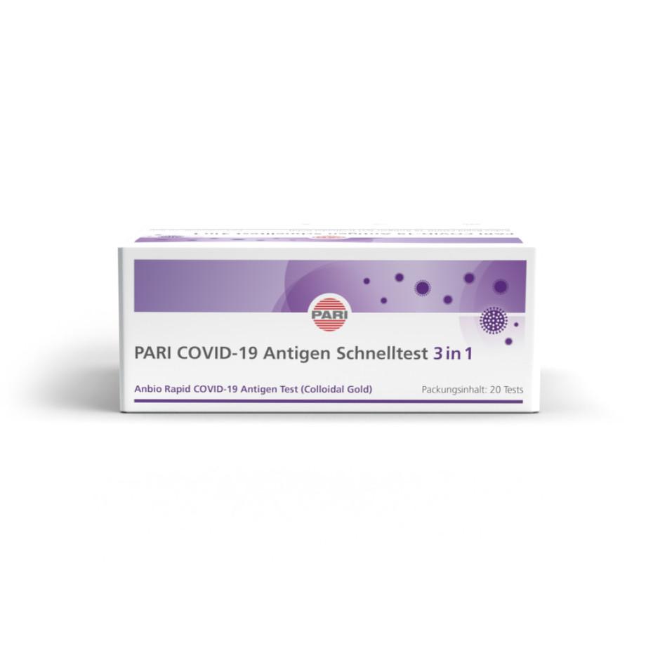 PARI COVID-19 Antigen Schnelltest - 3 in 1 (Corona) Antigen Schnelltest