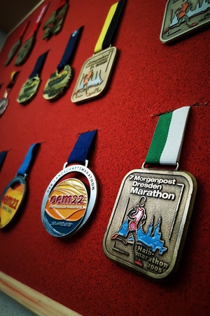 """15 medals hang on René's Wall of Fame, """"and more will be added"""""""