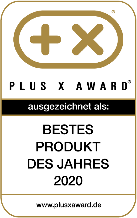 Bestes Produkt 2020 - PLUS X AWARD