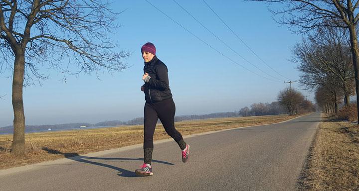 Christine Braune beim joggen