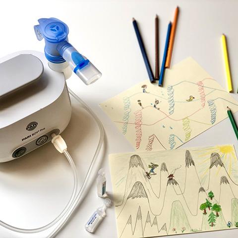 Spielerisch inhalieren: Gebirge oder Rutschen atmen