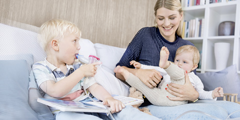 Inhalieren mit Kindern