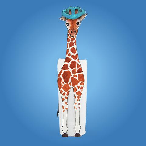 Gerda, die Giraffe, fühlt sich nicht gut.