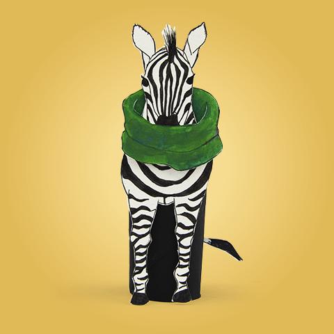 Zola, das Zebra, hat Halsschmerzen.
