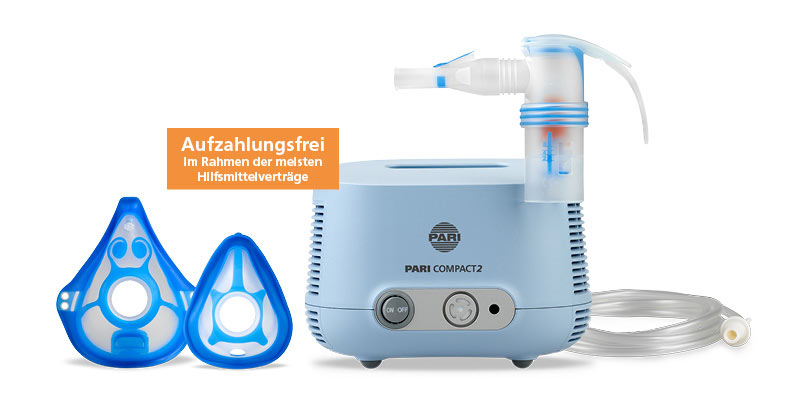 PARI COMPACT2 Aufzahlungsfreies Inhalationsgerät für die unteren Atemwege mit neuer Ausstattung