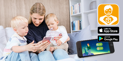 PARI Kinder App für mehr Spaß bei der Inhalation