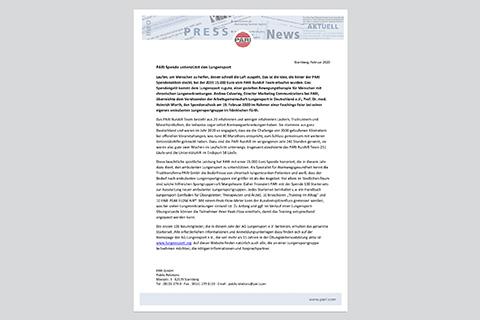 Pressemitteilung PARI Spendenuebergabe