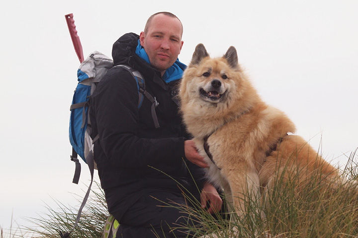 Sven Weiboldt with dog