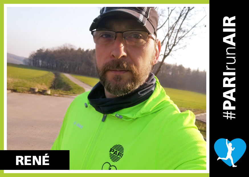 """""""As a PARI RunAIR, the topic of """"air and lungs"""" is very near and dear to my heart, says the 6'4"""" René, explaining his motivation to be a PARI RunAir"""