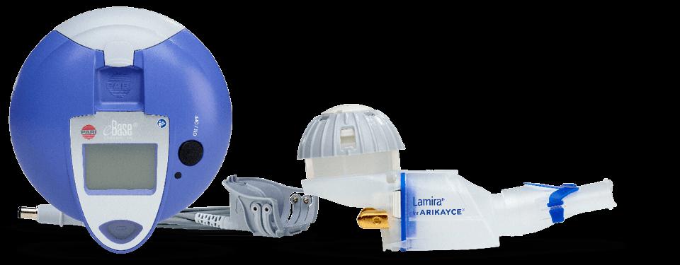 The LAMIRA® Nebuliser System, optimised for the administration of ARIKAYCE®