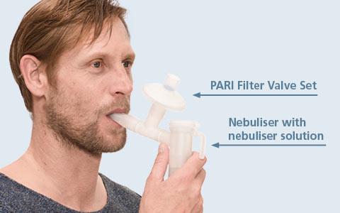 Using the PARI Filter-Valve Set with a PARI LC PLUS nebuliser