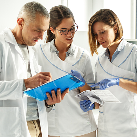 Hygienic processing at hospitals and medical practices